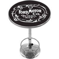 Ford Chrome Pub Table, Vintage 1903 Ford Motor Co