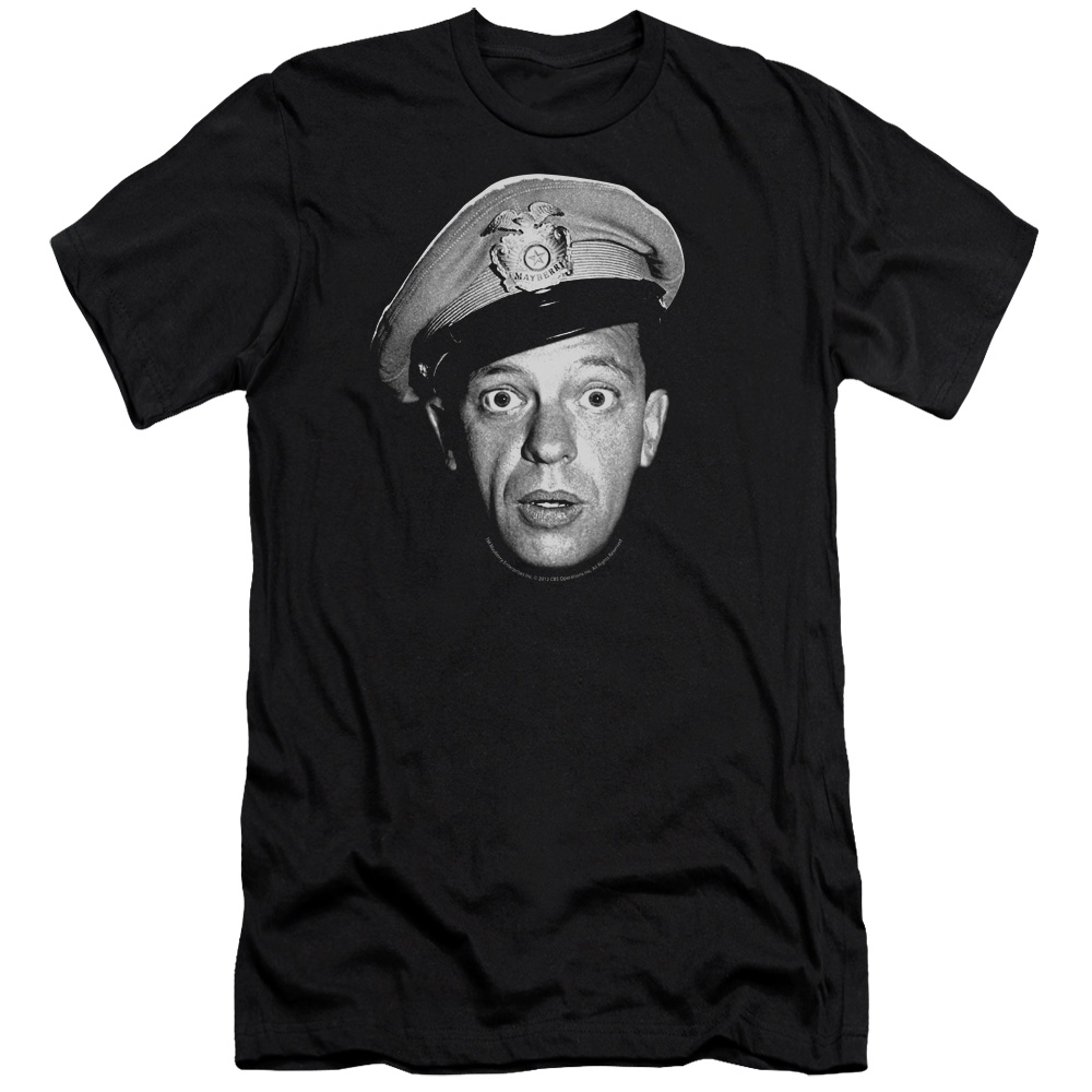 The Andy Griffith Show Barney Head Mens Slim Fit Shirt