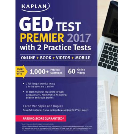 Kaplan Ged Test Premier 2017 With 2 Practice Tests  Online Acess