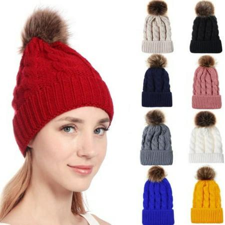 Meihuida - Fashion women´s winter hat knit large hat warm hat - Walmart.com 1f5e5426502