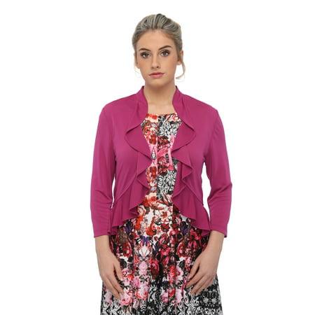 - SleekTrends Womens Ruffled Bolero jacket