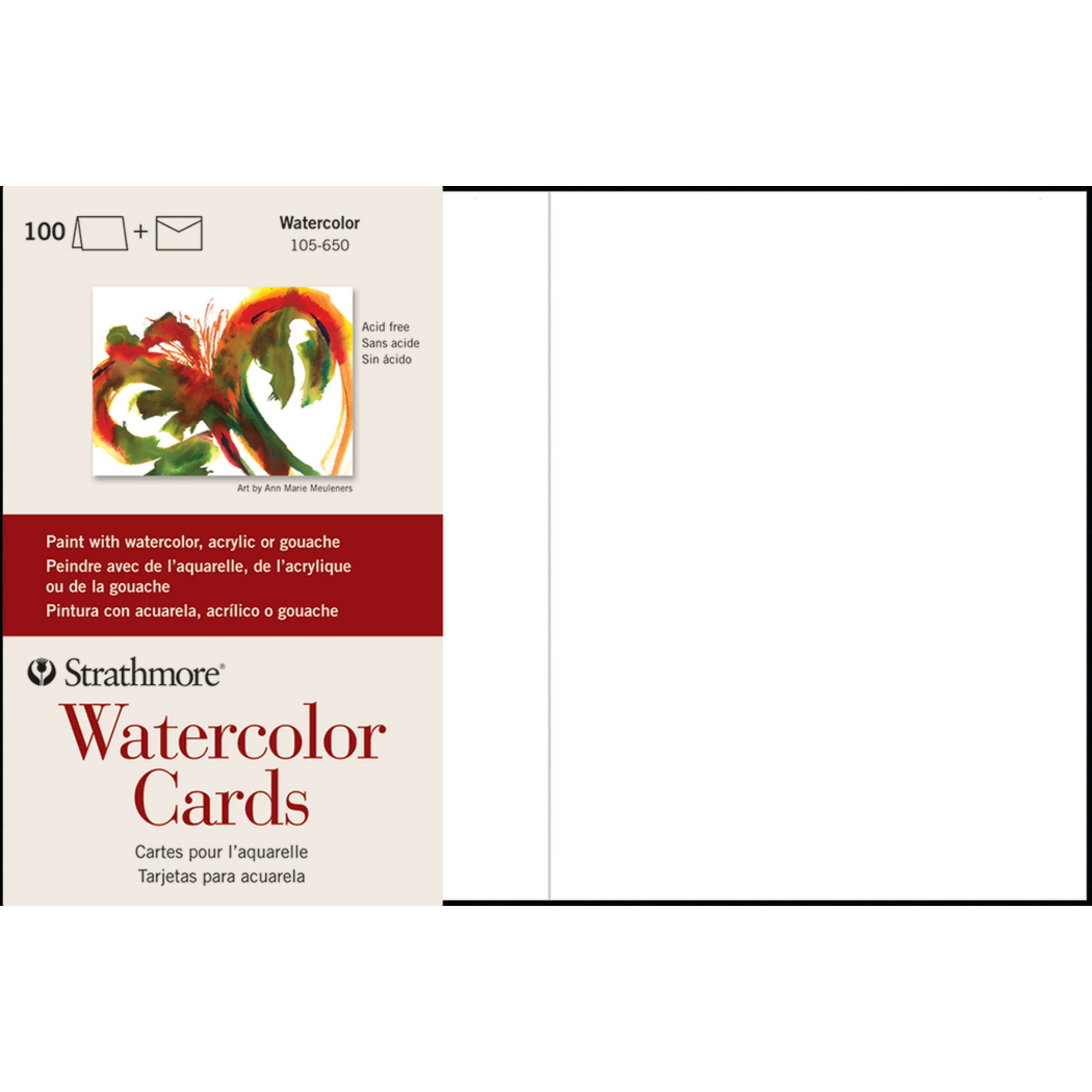 Strathmore Watercolor Cards, 5in x 7in, 100/Pkg.