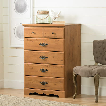 - South Shore Prairie 5-Drawer Dresser, Country Pine