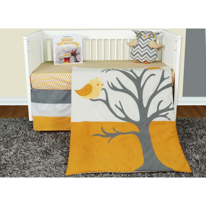 Snuggleberry Baby  Nightie Night Owl 5-piece Crib Beddng Set with Storybook