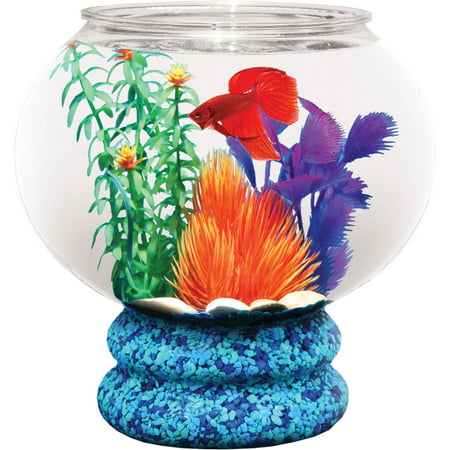Plastic Pedestal Bowl (Hawkeye 1.6-Gallon Fish Bowl with Pedestal, Break-Resistant Plastic 9