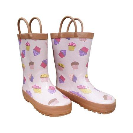 Pink Cupcakes Galore Girls Rain Boots - Shoe Cupcakes