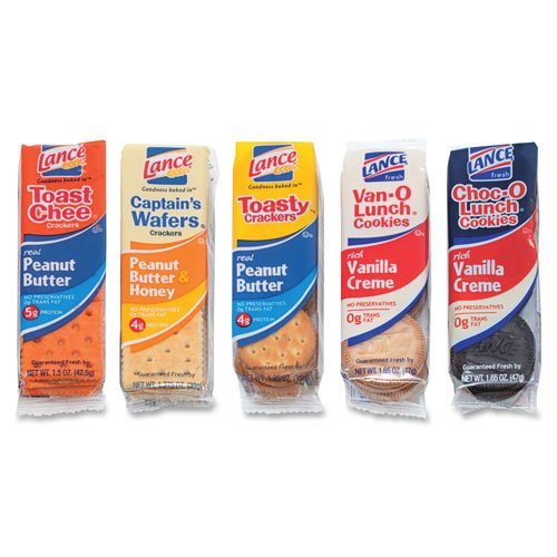 Lance Snack Crackers/Cookies Variety Pack, 1.4 oz.-1.65 oz., Assorted, 24/BX - LNE40625
