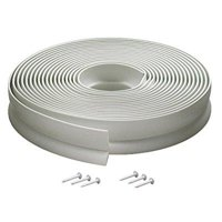 m-d building products 3822 vinyl garage door top and sides seal, 30 feet, white