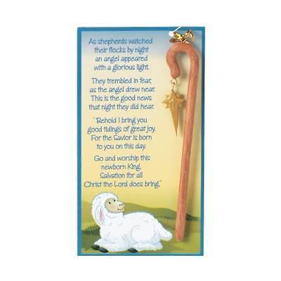 IN-4/4734 Shepherd Staff Christmas Ornaments on a Card Per Dozen (Shepard Staff)