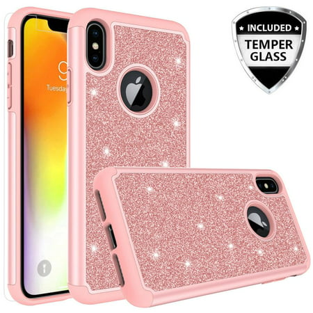 Apple Iphone Xs Max Case W Tempered Glass Screen Protector
