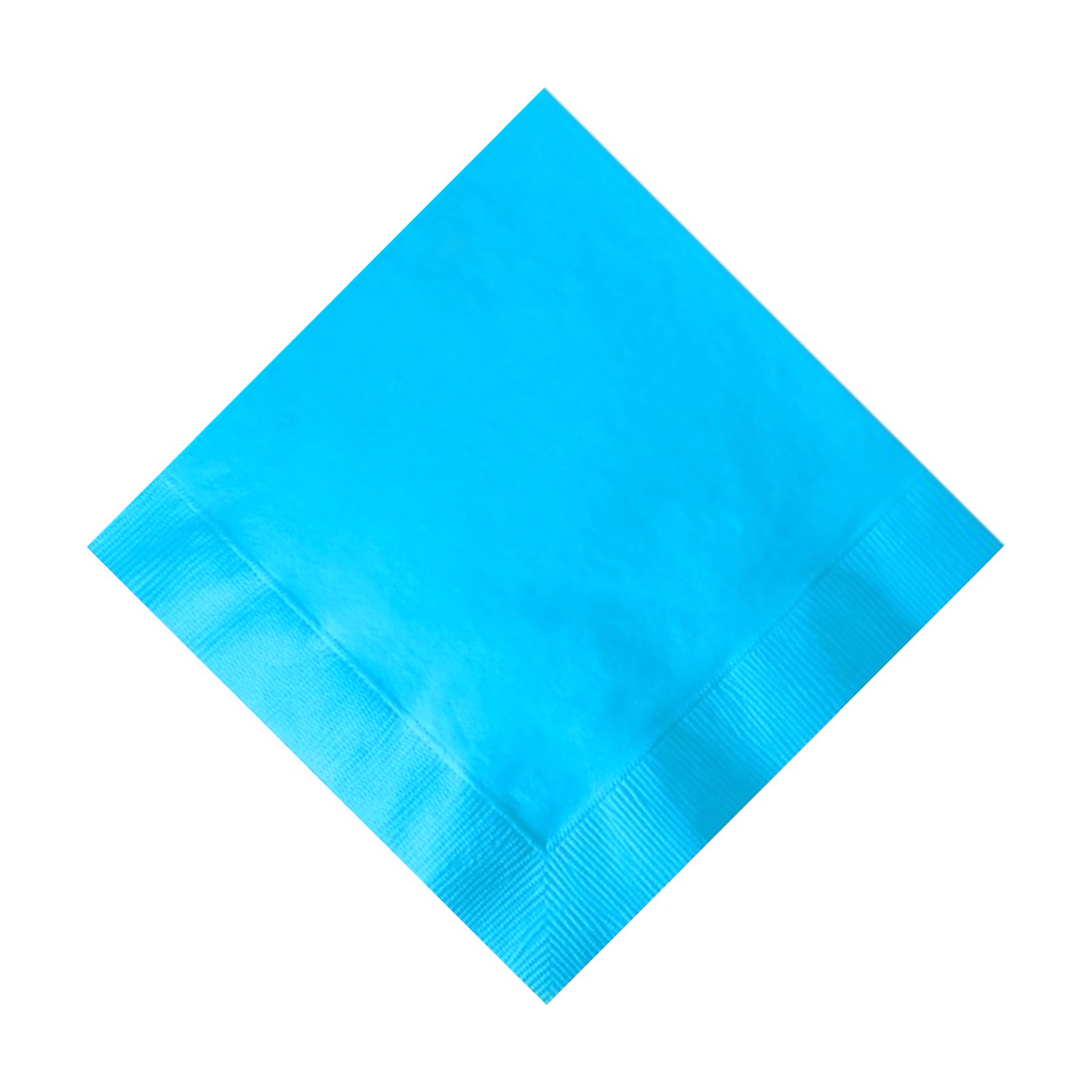 50 Plain Solid Colors Beverage Cocktail Napkins Paper Bermuda Blue by CREATIVE CONVERTING