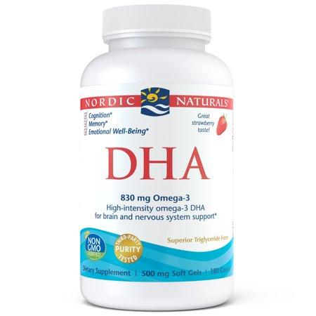 Nordic Naturals DHA Omega-3 Softgels, Strawberry, 180 Ct ()