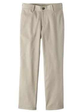 Wonder Nation Husky Boys 8-18 School Uniform Super Soft Stretch Twill Flat Front Pants