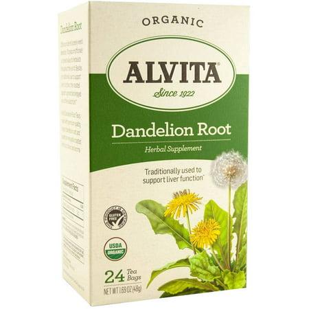 Alvita supplément à base de plantes racine de pissenlit biologique thé, 24 comte, 1,69 oz