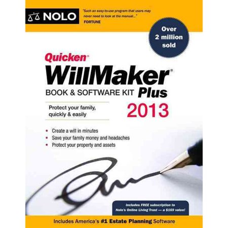 Quicken WillMaker Book & Software Kit Plus (With CDROM)