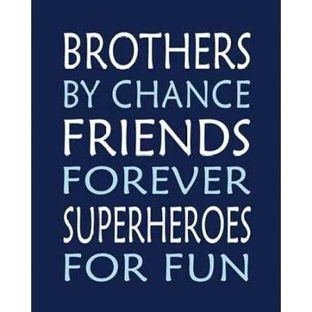 Brothers Superhero Poster Print by  Tamara Robinson - Superhero Poster