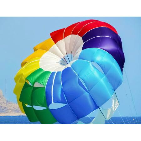 Canvas Print Colours Rainbow Colours Paragliding Parachute Stretched Canvas 10 x 14
