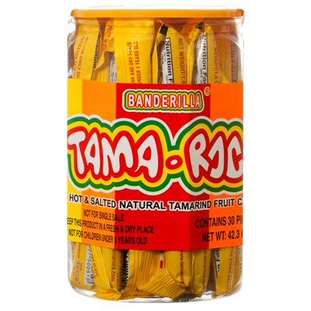 Mexican Candy - 30 Pieces of Spicy Tamarindo Banderilla Tama-Roca Sticks Candy for Fruit Cocktails, Parties, And Candy Buffet