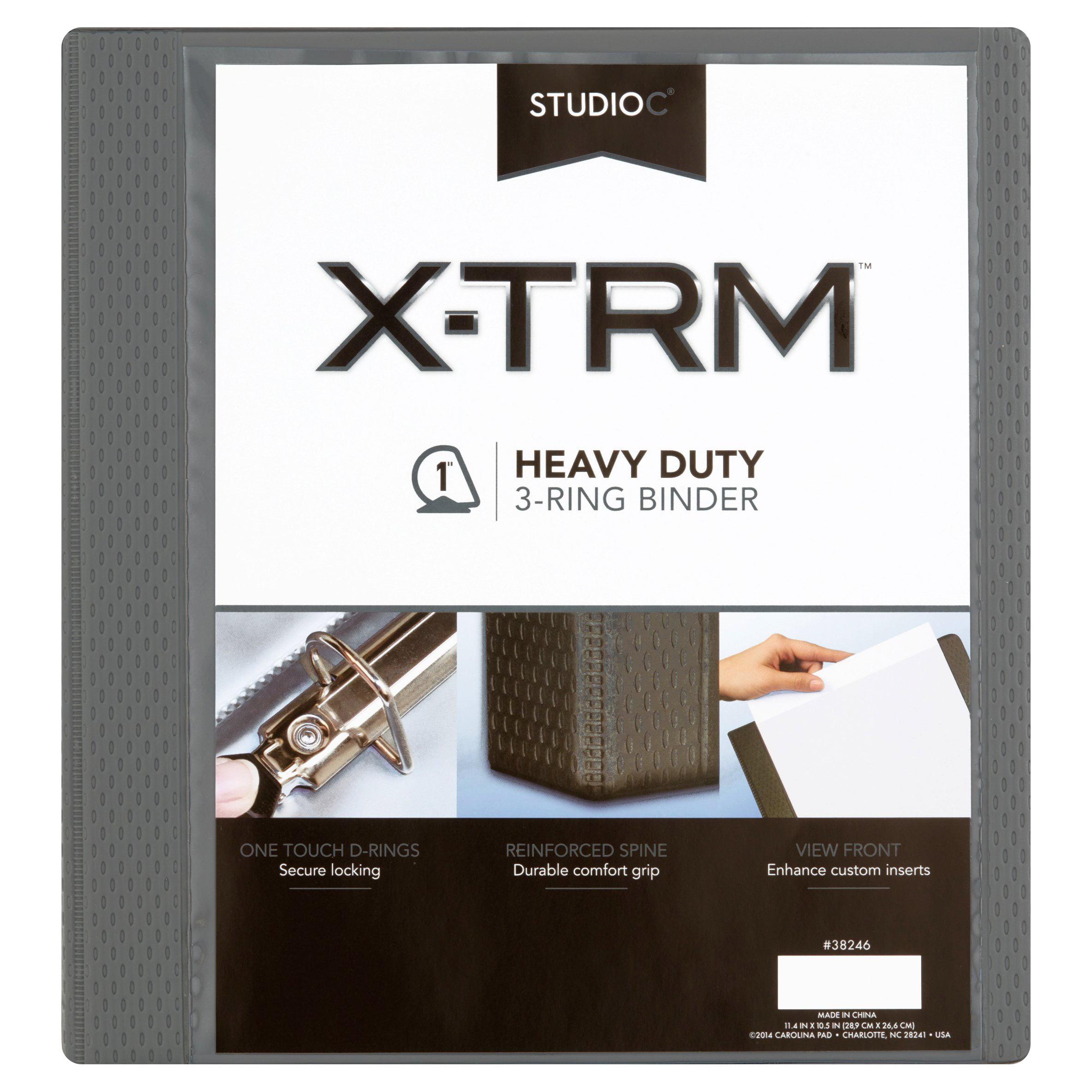 "Studio C X-TRM 1"" Heavy Duty 3-Ring Binder"
