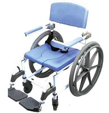 "Shower Wheelchair Bath Toilet Commode Bariatric 20"" Wide Seat with 24"" Wheels"