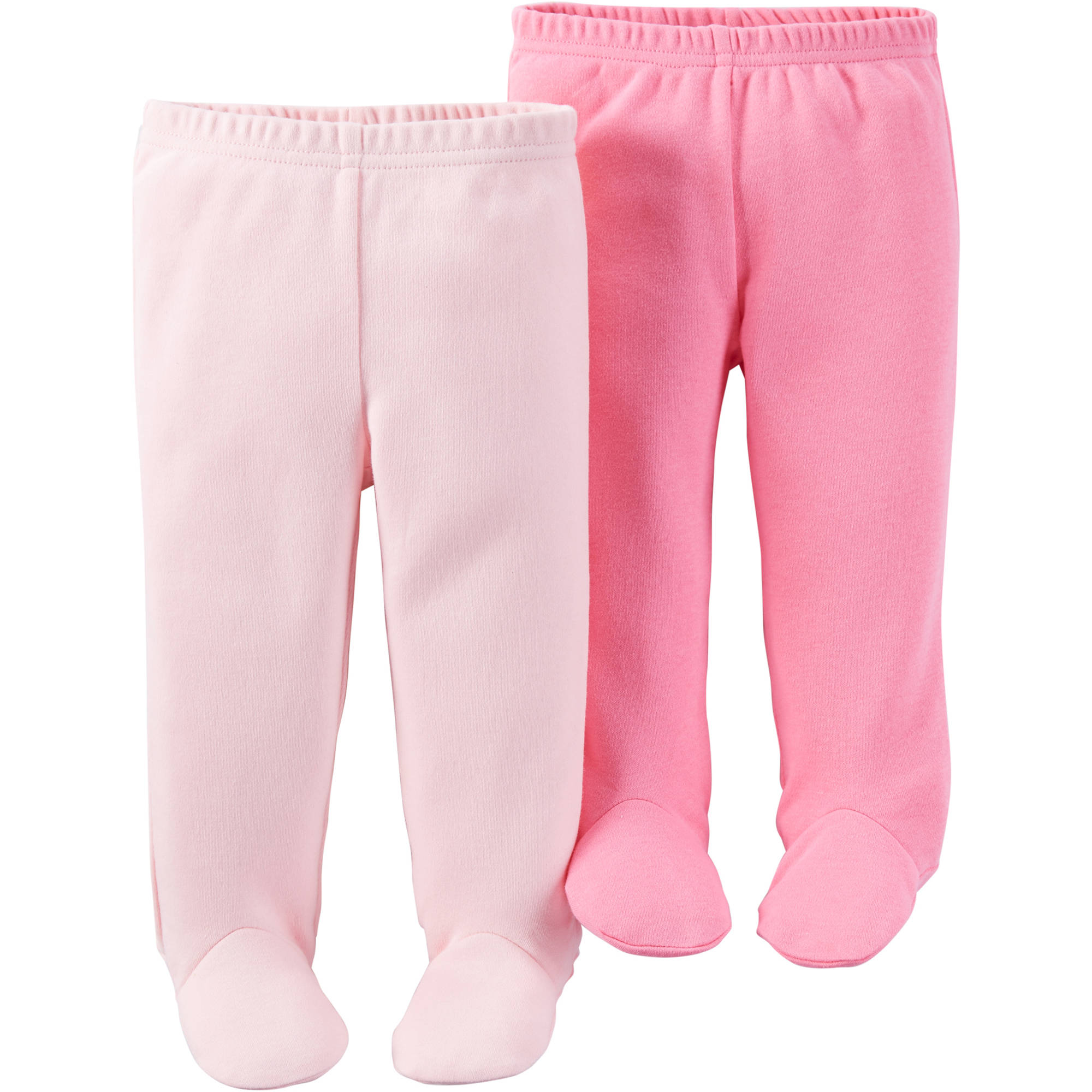Child Of Mine by Carter's Newborn Baby Girl Footed Pants, 2-Pack