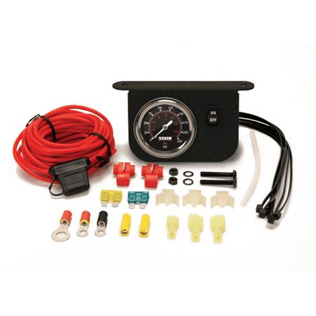 Illuminated Dash Panel Gauge Kit, Black Face (200 PSI, 30
