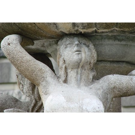 - Framed Art for Your Wall Art Mermaid Woman Fountain Sandstone Sculpture 10x13 Frame