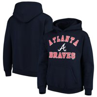 Atlanta Braves Stitches Youth Fleece Pullover Hoodie - Navy