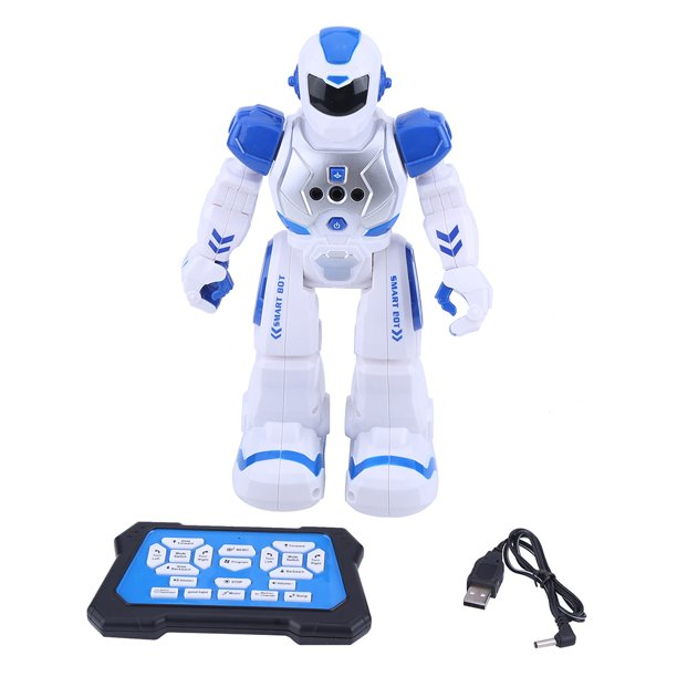 WALFRONT 2Colors Kid Remote Control Intelligent Robot ...