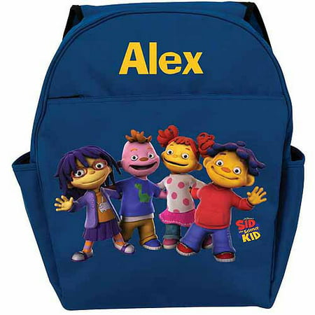 Personalized Sid the Science Kid and Friends In-A-Row Blue Backpack - Personalized Kids Back Packs