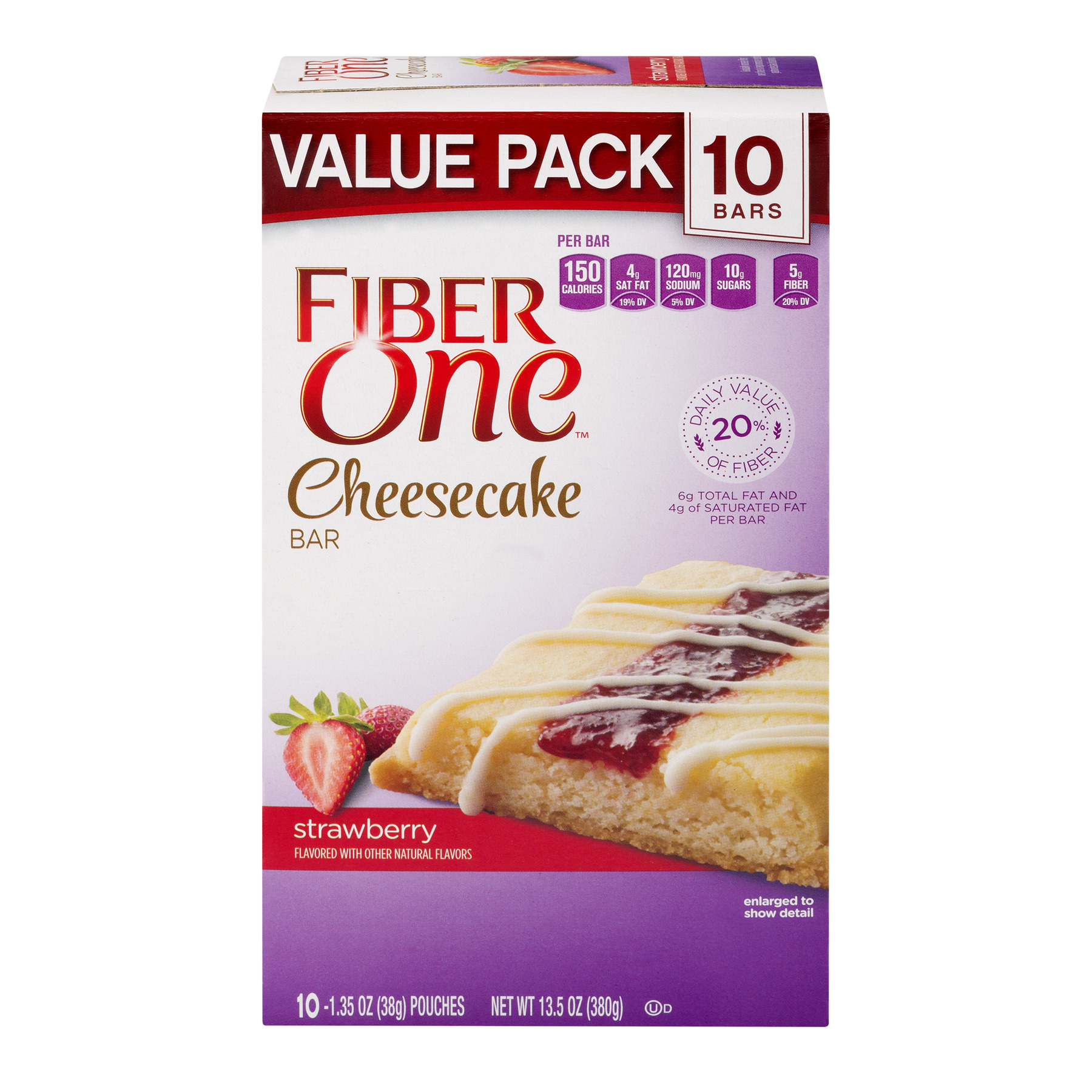 Fiber One Strawberry Cheesecake Value Pack 10ct 13.5 oz Box