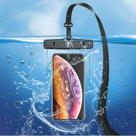 Njjex Waterproof Phone Pouch Waterproof Phone Case Cell Phone Dry Bag Underwater Phone Pouch Universal Waterproof Case Fits Smartphone up to 6.5 inch display -Clear