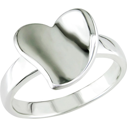 Heart-Shaped Ring in Sterling Silver