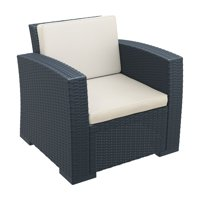 Siesta Monaco Resin Patio Club Chair with Cushion