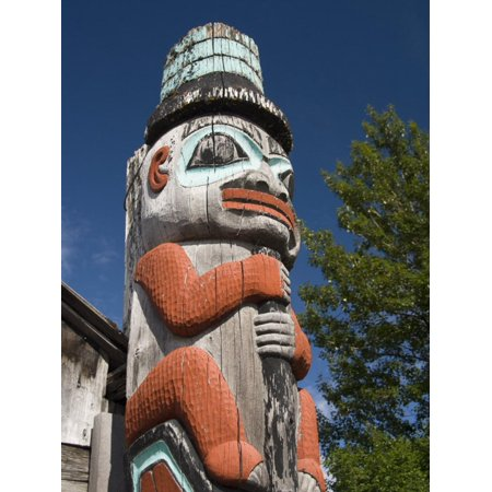 Tlingit Totem Pole, Raven's Fort Tribal House, Fort William Seward, Haines, Alaska Print Wall Art By Richard Maschmeyer - Tribal Totem