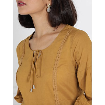 all about you from Deepika Padukone Brown Solid A-Line Kurta - image 1 de 6