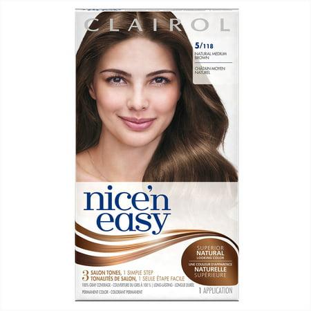 Clairol Nice' n Easy Permanent Hair Color, 5/118 Natural ...
