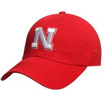 Nebraska Cornhuskers Top of the World Solid Crew Adjustable Hat - Scarlet - OSFA