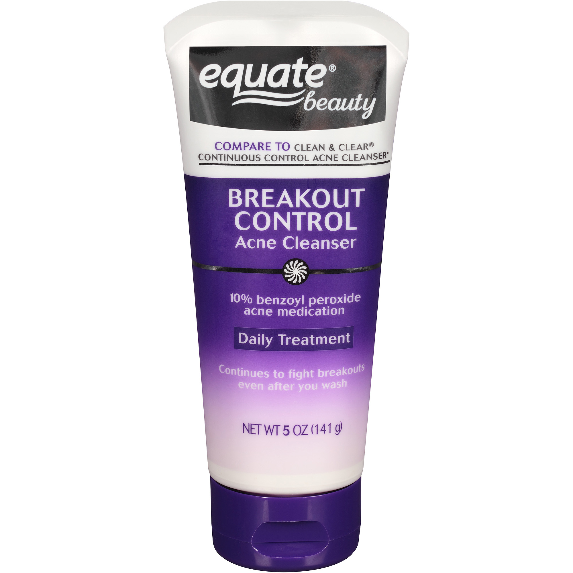 Equate Beauty Breakout Control Acne Cleanser, 5 oz