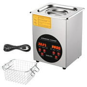 2L Stainless Steel Ultrasonic Cleaner Heater Timer Bracket Jewelry Lab Glasses Bullet Gun Home
