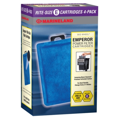 Aquatics Marineland Emperor PA0137-04 Filter Cartridge, Rite Size E, 4/Pack