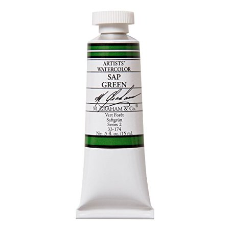 Green Watercolour - M.GRAHAM & CO. 33174 M GRAHAM SAP GREEN 15ML WATERCOLOR