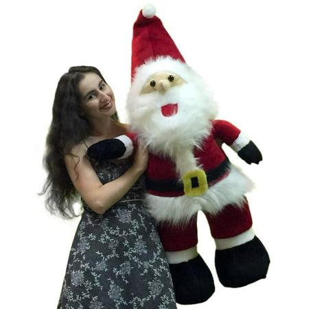 american made giant stuffed santa claus 4 feet tall soft premium quality large christmas plush 48 - Stuffed Santa Claus