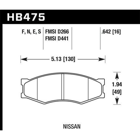 hawk 86-88 nissan 200sx / 84-89 nissan 300zx / 82-90 nissan sentra ht-10  race front brake pads - walmart com