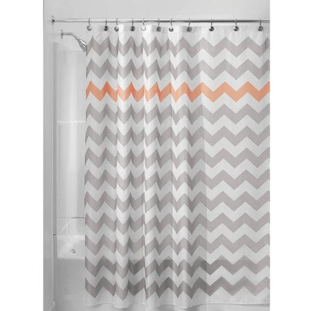 Interdesign Chevron Fabric Shower Curtain 72 X 72 Various Colors