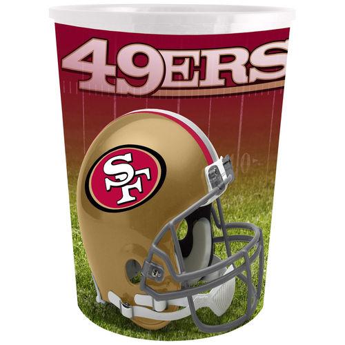 San Francisco 49ers Plastic Wastebasket