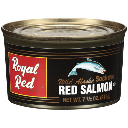 (2 Pack) Trident Royal Red Wild Alaskan Red Sockeye Salmon, 7.5 oz