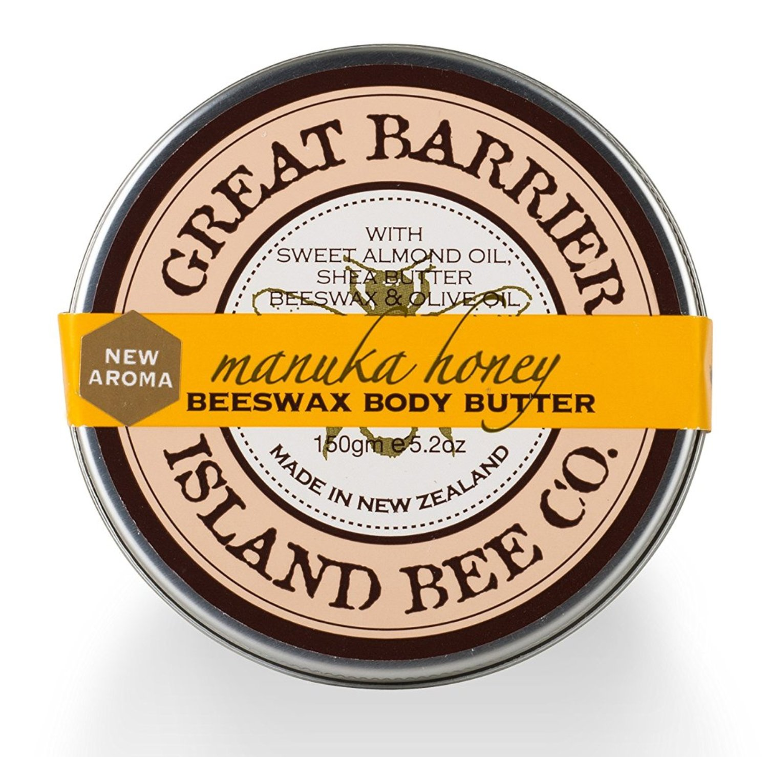 Vanilla Bee Beeswax Body Butter Pot 5.2 Ounces Great Barrier Island Bee Co