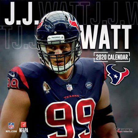 Texans Calendar 2020 Houston Texans J.J. Watt: 2020 12x12 Player Wall Calendar (Other