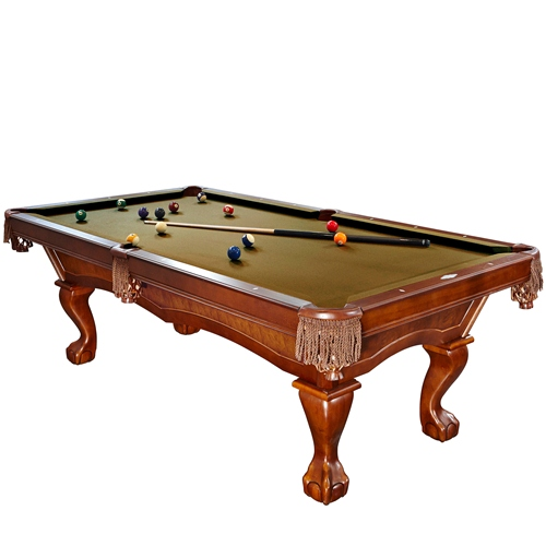 Brunswick Danbury 8 Foot Pool Table With Sahara Contender Cloth And Play Kit
